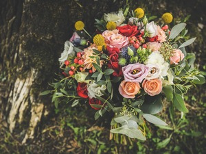 Romantischer Bouquet - Heiraten in der Toskana